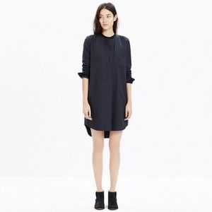 Madewell NWT Charcoal grey flannel shirt dress XXS